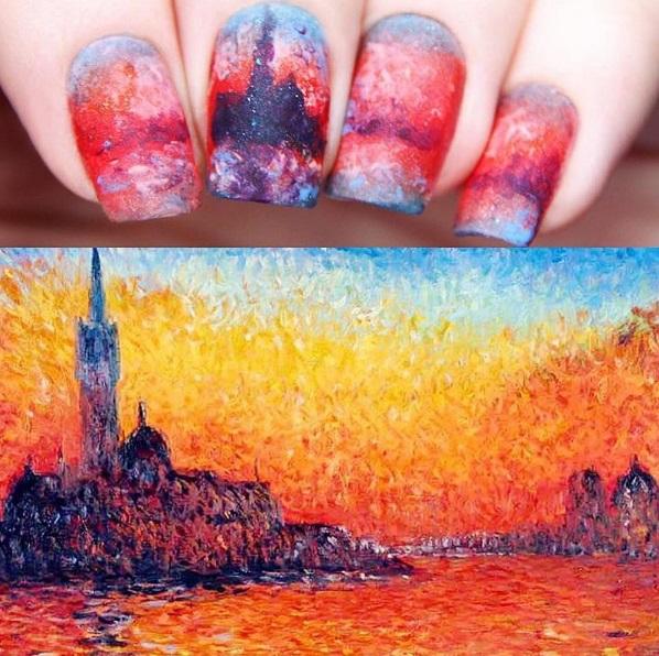 Идеи летнего маникюра: живопись на ногтях
