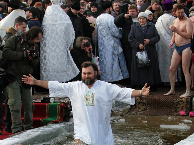 Купання в ополонцы на Водохрещення