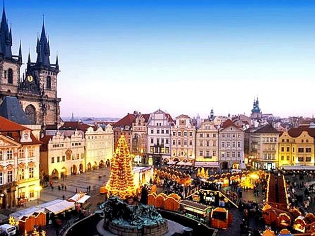 Новий рік 2013 в Празі: Староміська площа на Новий рік