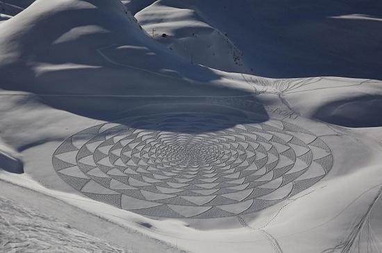 Красивые рисунки на снегу