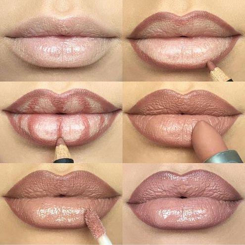 Макияж лица: губы