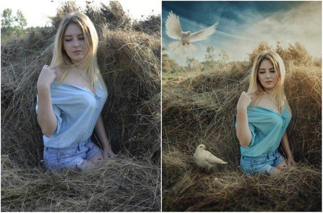 Как сделать с фото картинку фотошоп