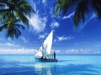 Кораблик в океане