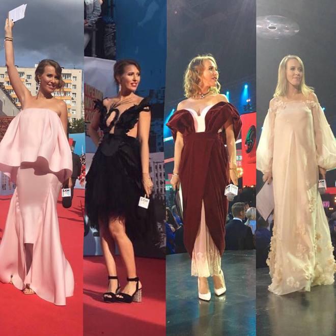 Сукні вагітної Ксенії Собчак на Муз-ТВ 2016