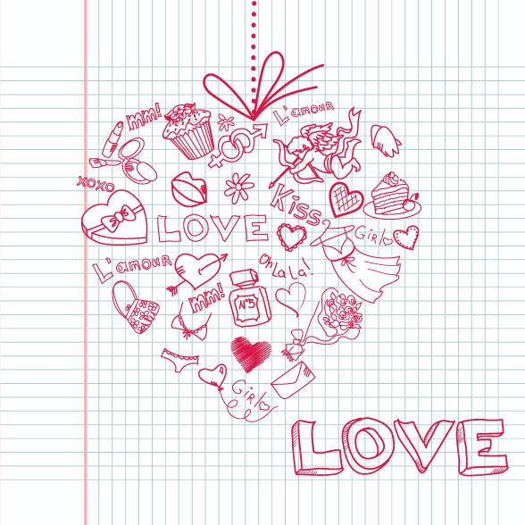 Школьная валентинка на 14 февраля