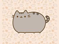 Обои с самым милым котейкой - Pusheen the cat
