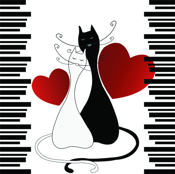 Романтические котики
