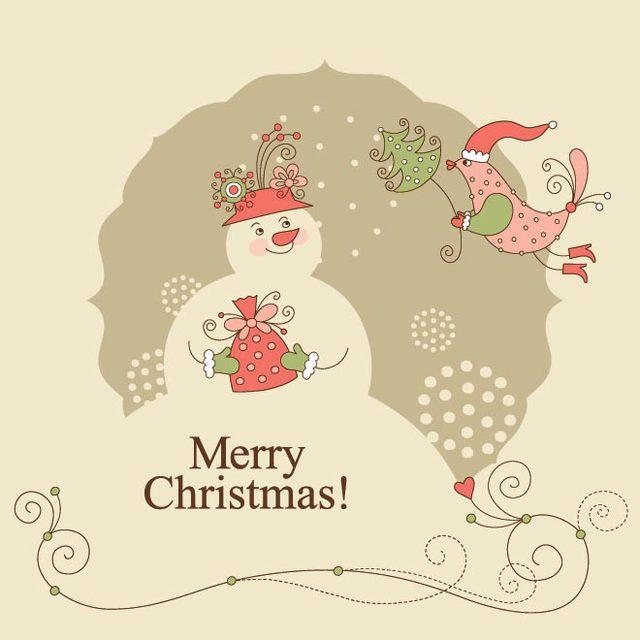 Прикольная открытка к Рождеству