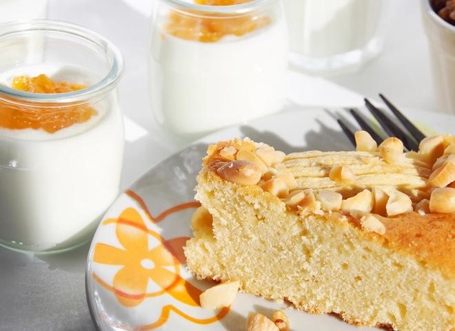 Пирог на кефире с орехами рецепты с фото