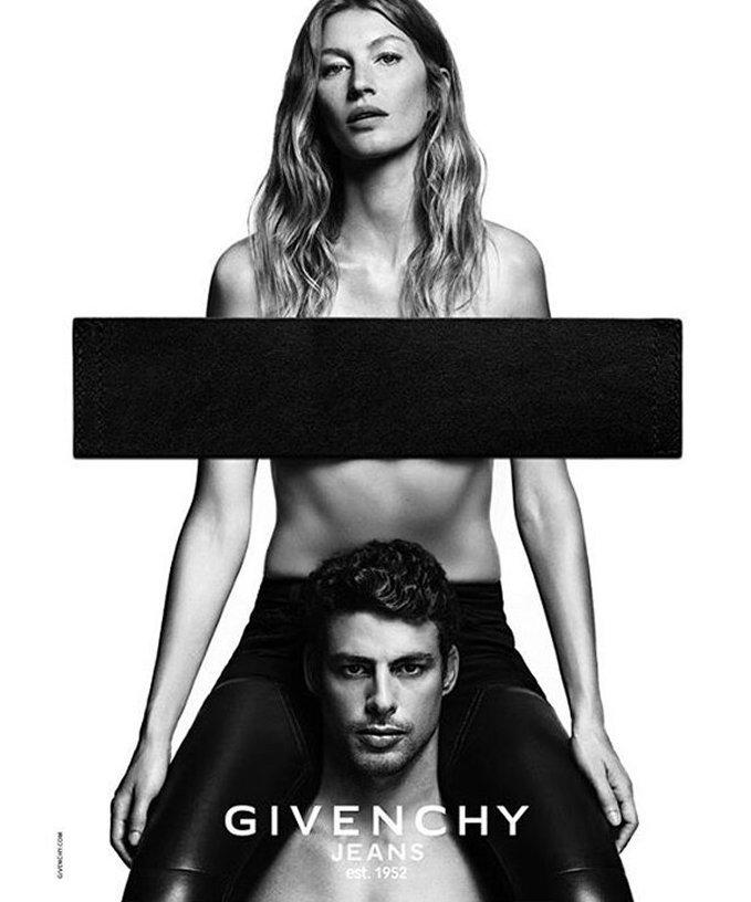 Жизель Бюндхен в кампейне Givenchy Jeans 2016