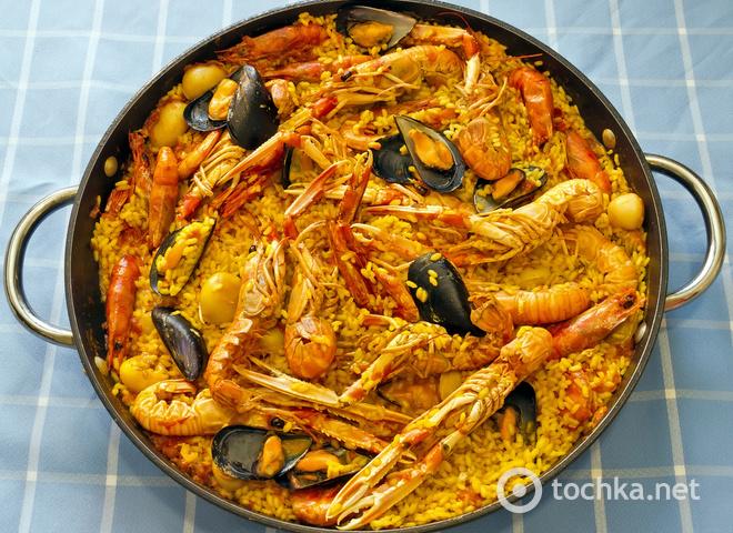 Рецепт паэльи с морепродуктами с фото
