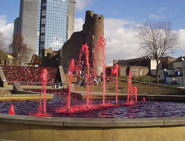 Найнезвичайніші фонтани: Кривавий фонтан, Уельс