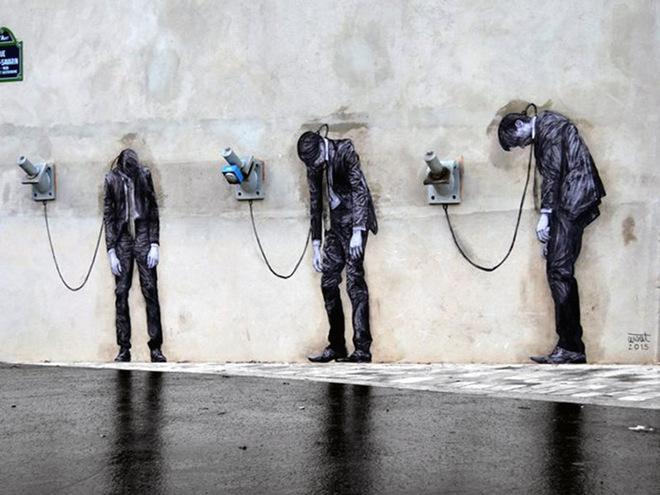 Стрит-арт на улицах Парижа: новые работы Чарльза Леваля