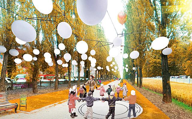 Проект освещения центра Киева Васильева Жени