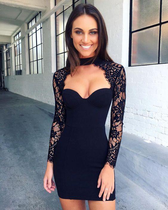 5 вариантов черного платья на Новый год 2019