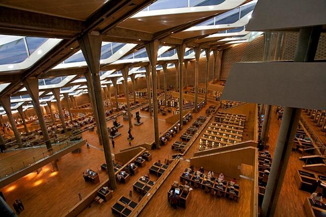 Cамые красивые библиотеки: Библиотека Александрина, Александрия, Египет