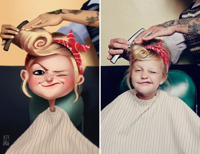 Удивительные иллюстрации из фото случайных людей от Julio Cesar
