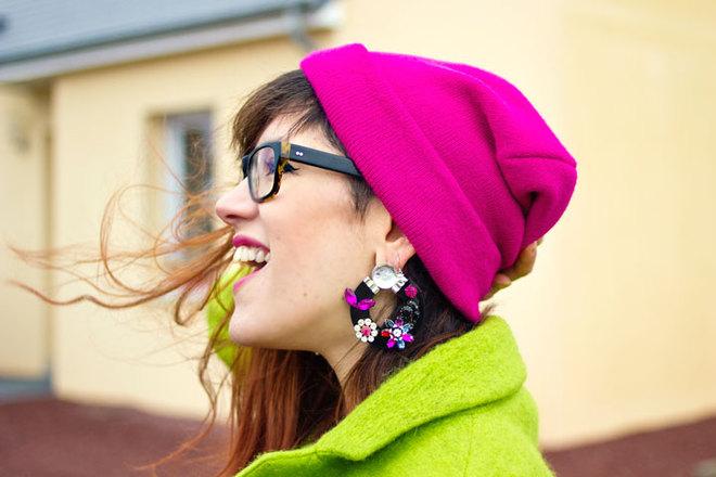 Что носить зимой: вязаные шапки