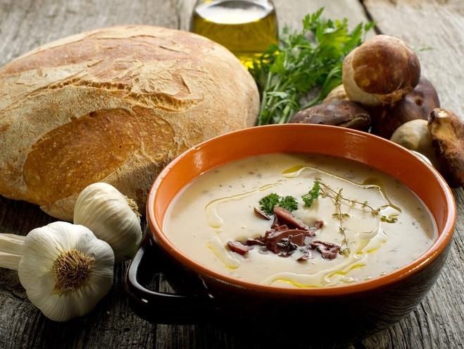 Як приготувати гречаний суп, Пісні страви з грибів