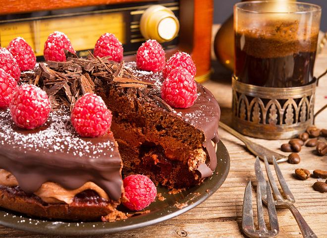 Меню на День рождения, Пирог с малиной