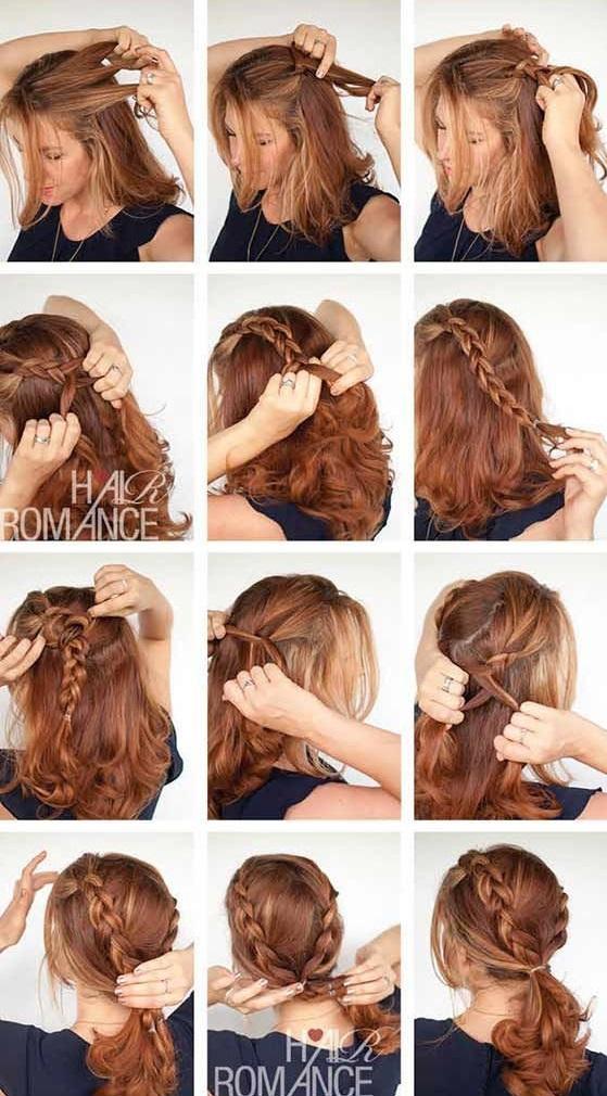 Причёски на среднюю длину на каждый день