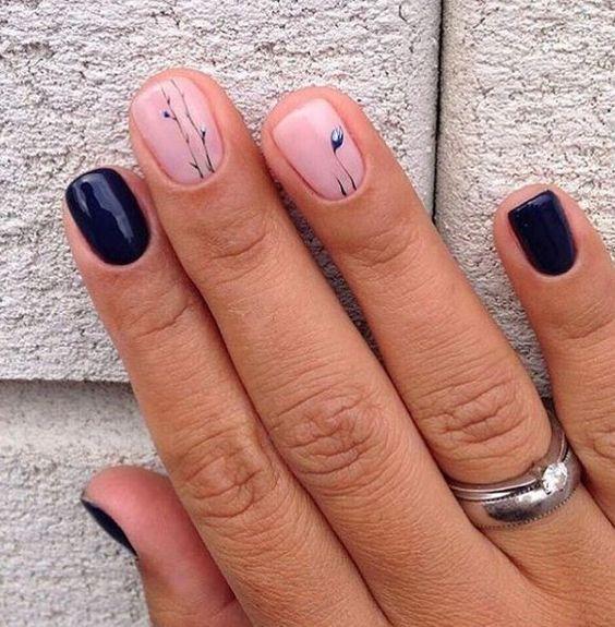 Манікюр для коротких нігтів 8 Марта