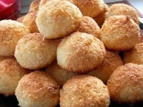 Кокосовое печенье с соленой карамелью