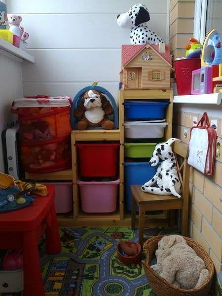 Дитяча кімната на балконі