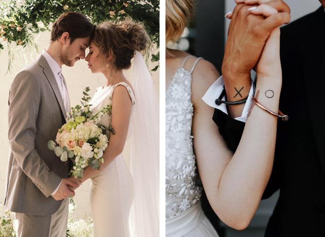 Необычные идеи парных свадебных тату