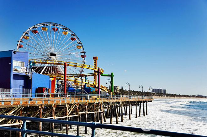 Кінотуризм: Пляж Санта Моніка, Лос-Анджелес