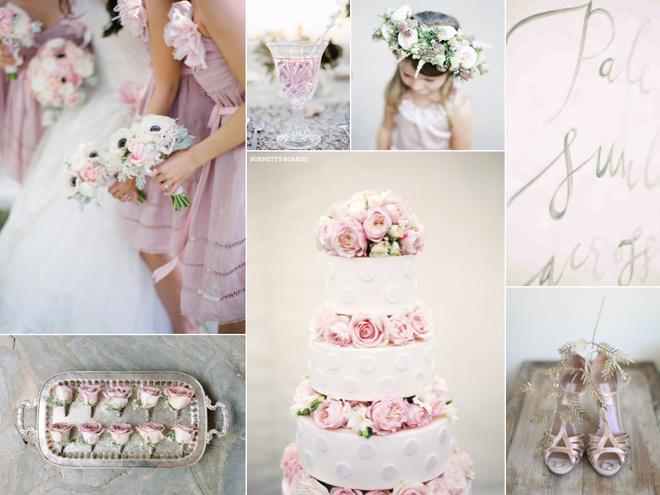 Стильные свадебные оттенки: gentle pink