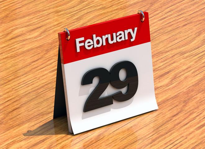 Високосный год, 29 февраля, календарь
