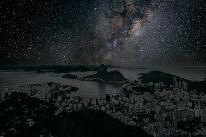 Как бы выглядели мегаполисы без света