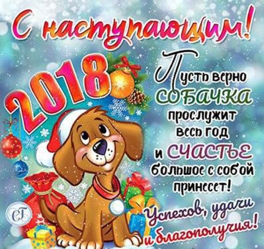 С наступающим Новым годом собаки 2018