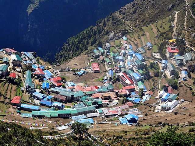 Города выше и ниже уровня моря: Намче-Базар, Непал
