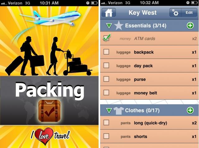 Корисні програми для мандрівника: Packing (+ To Do!)