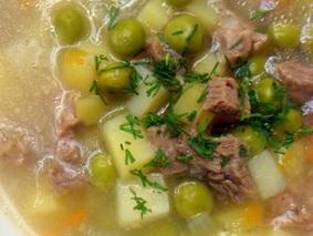 Суп из консервированного горошка