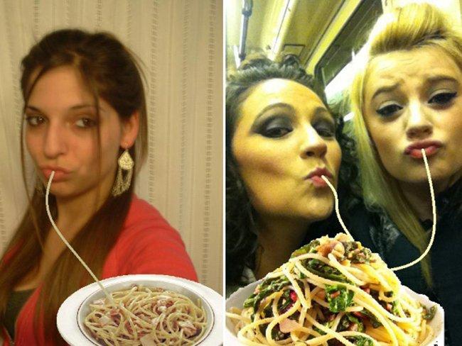 Просто добавь спагетти. Утиные губки.