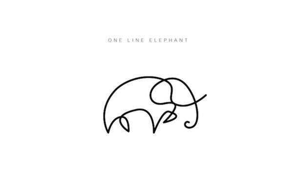 Животные, нарисованные одной линией. Сделай оригинальную роспись в паспорте