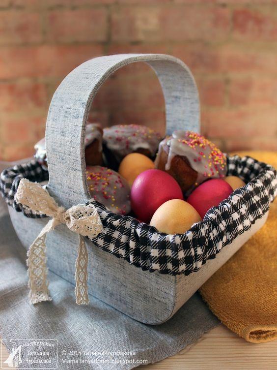 Декор пасхальной корзины: красивые идеи