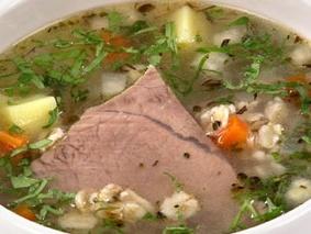 Суп картофельный с эстрагоном и овсяными хлопьями