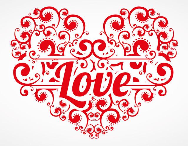 Красивая открытка ко Дню Св. Валентина 2015