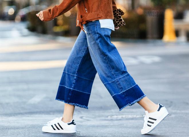 Модні тенденції 2016: джинси-кюлоти (street style)