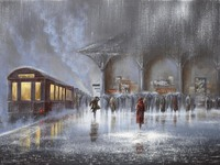 Поезд под дождем