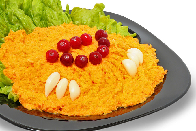 Рецепт морквини з часником