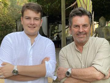 Томас Андерс с сыном