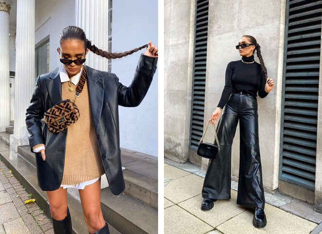 Как и с чем носить кожаную одежду в 2021 году