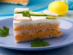 Бутербродный торт с морковью