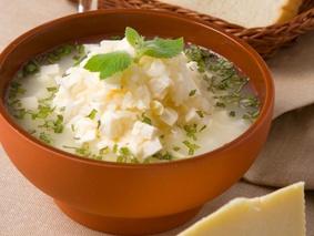 Суп из сыра с рисом