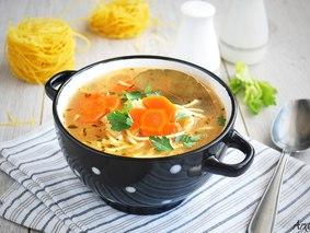 Суп с лапшой (постный)